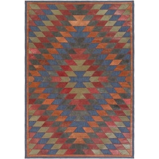 Papilio : Hand-Crafted Burma Leather/Cotton Rug (8' x 10')