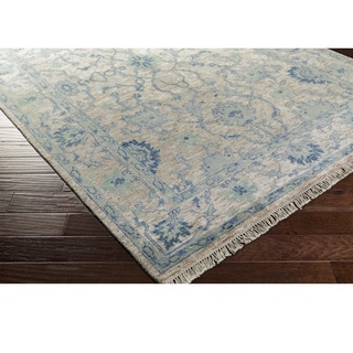 Hand-Knotted Creekside Wool/ Viscose Rug (6' x 9')