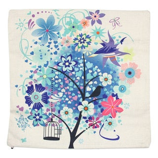 June Lily 18-inch Cage and Tree Throw Pillow Cover