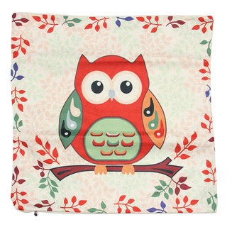 June Lily 18-inch Red Owl Throw Pillow Cover
