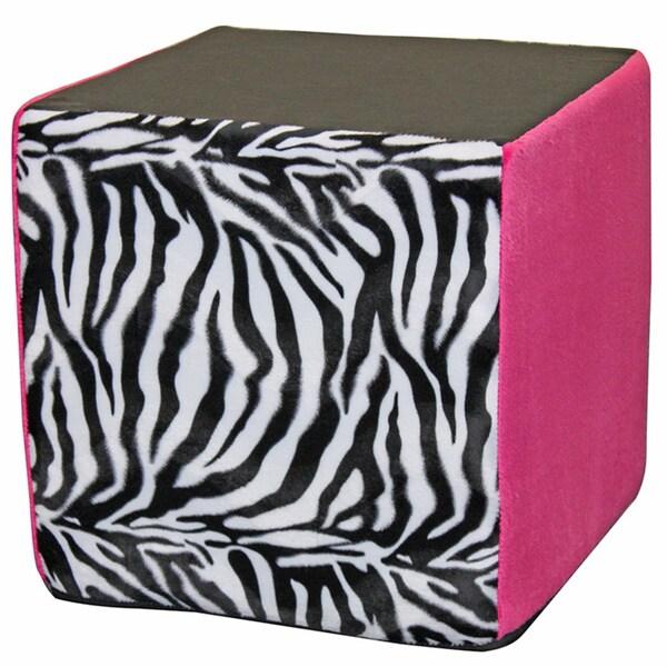 Koala Foam Pink Zebra 15-inch Cube