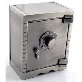 Elegance Pewter Finish Saftey Deposit Money Bank