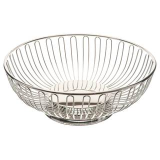 Elegance 10-inch Round Silver-plated Basket