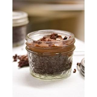 My Momma's Kitchen Dark Chocolate Pudding Cake in a Jar with Dark Chocolate Ganoche (Set of 4)