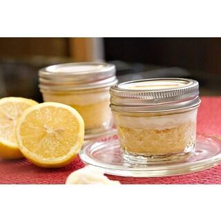 My Momma's Kitchen Luscious Lemon Cake in a Jar with Lemon Buttercream (Set of 4)