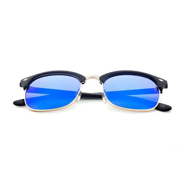 Epic Eyewear Urban Retro Half Frame Uv400 Polarized Sunglasses