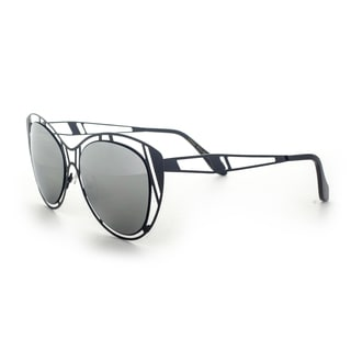 Epic Eyewear Futuristic Fashion Halo Flat Frame Aviator Uv400 Sunglasses