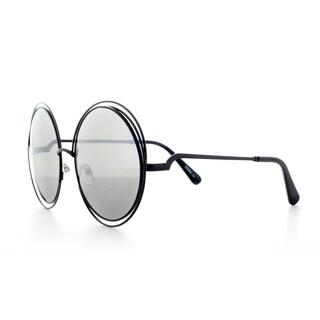 Epic Eyewear Sophisticated Double Round Frame Uv400 Fashion Sunglasses
