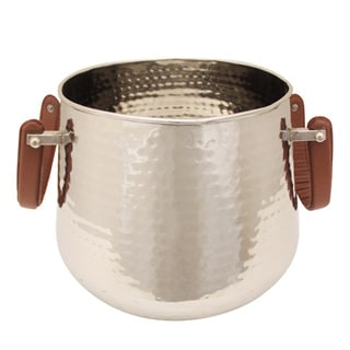 Party Essentials Stainless Steel Hammered Bucket Wine Cooler