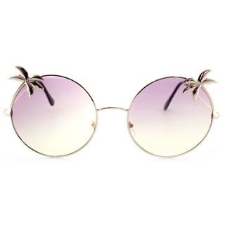 Epic Eyewear Tropical Love Oversized Wired Round Frame Fashion Uv400 Sunglasses
