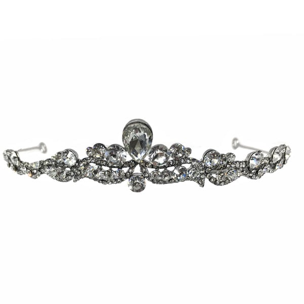 Kate Marie Cwn-10235 Silver Rhinestone Crown Tiara Headband