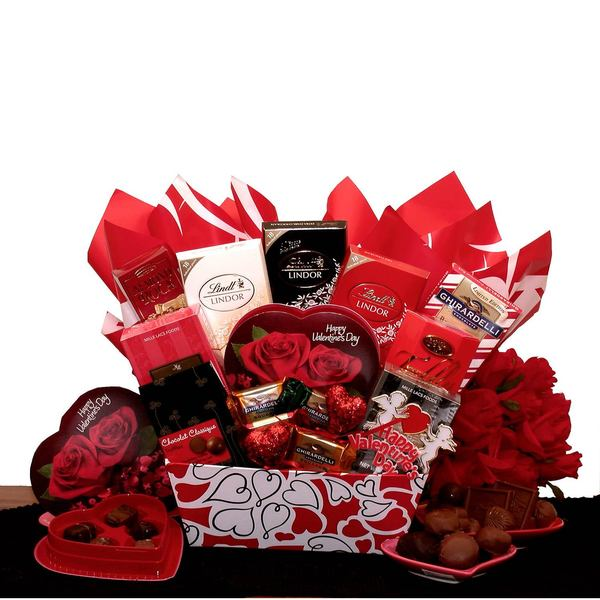 Heart's Afire Decadent Chocolates Valentines Gift Box