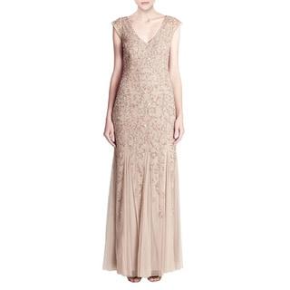 Aidan Mattox Beaded Godet Evening Gown (Size 8)
