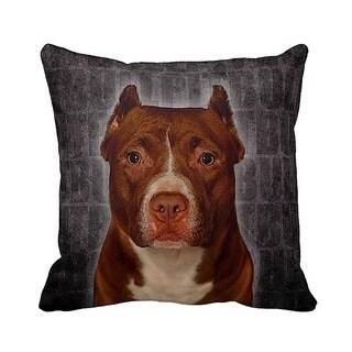 Pit Bull Grunge 16-inch Black Throw Pillow
