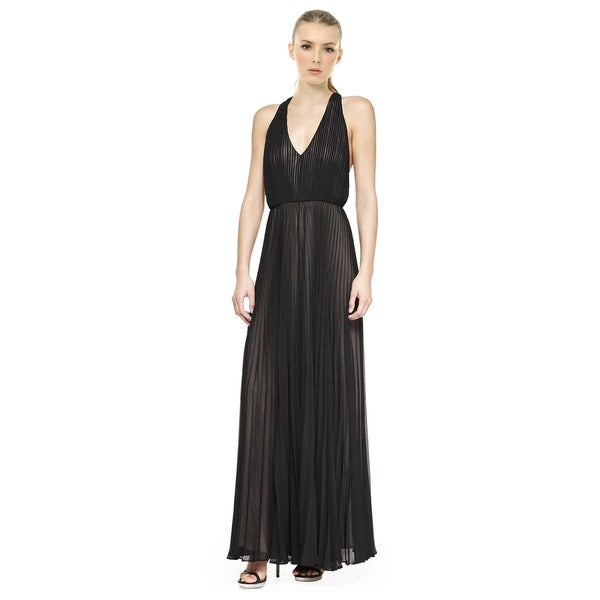 Alice and Olivia Morris Pleated T-Back Jumpsuit