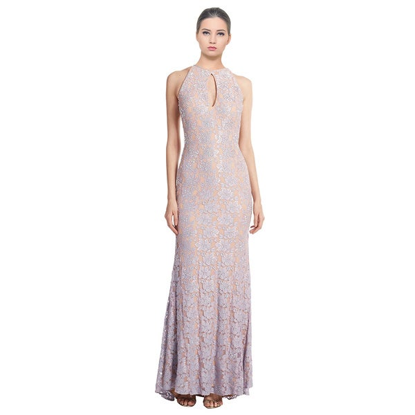 Jovani Glamorous Lace Keyhole Allover Beaded Dress