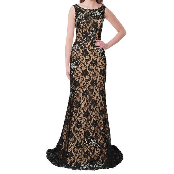 Jovani Floral Applique Embellished Evening Gown