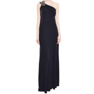 David Meister Stunning Jersey Knit Long Evening Gown