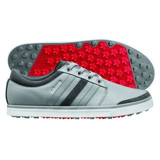 Adidas Adicross Gripmore Golf Shoes 2014 Aluminum/Running White/Light Scarlet