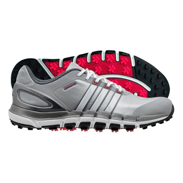 Adidas Pure 360 Gripmore Sport Golf Shoes 2014 Light Onix/Running White/Light Scarlet