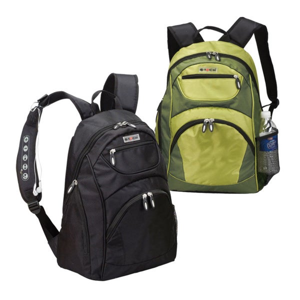 Goodhope iPod/MP3 Speaker and 15-inch Laptop Backpack