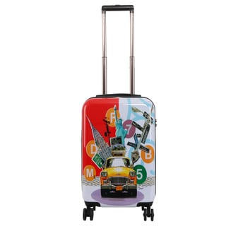 Triforce Francisco Ceron Pop Art New York 22-inch Carry-on Spinner Luggage