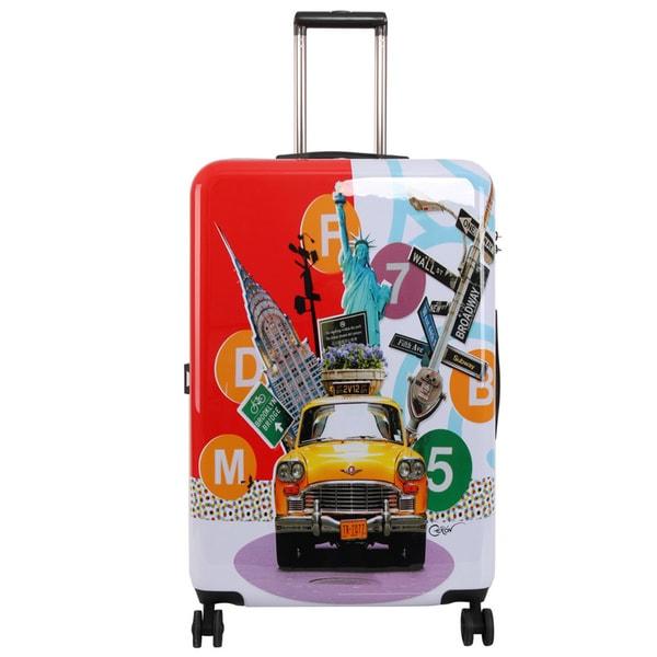 Triforce Francisco Ceron Pop Art New York 30-inch Hardside Spinner Upright Suitcase