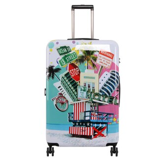 Triforce Francisco Ceron Pop Art South Beach 30-inch Hardside Spinner Upright Suitcase