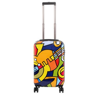 Triforce Francisco Ceron Music and Flowers 22-inch Carry-on Spinner Upright Suitcase