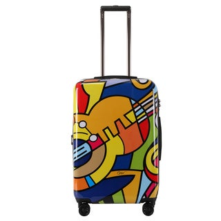 Triforce Francisco Ceron Music and Flowers 26-inch Hardside Spinner Upright Suitcase