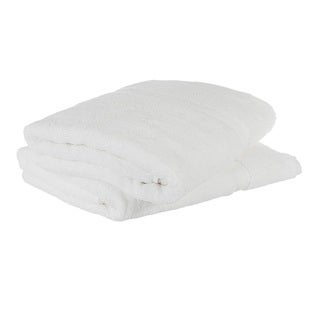 Cheer Collection Luxirious Super Soft Absorbent White Bath Sheet Towels - (Set of 2)
