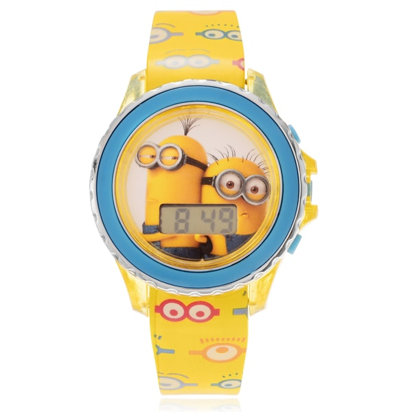 Disney Despicable Me Minion Flashing Light Children's Digital Strap Watch