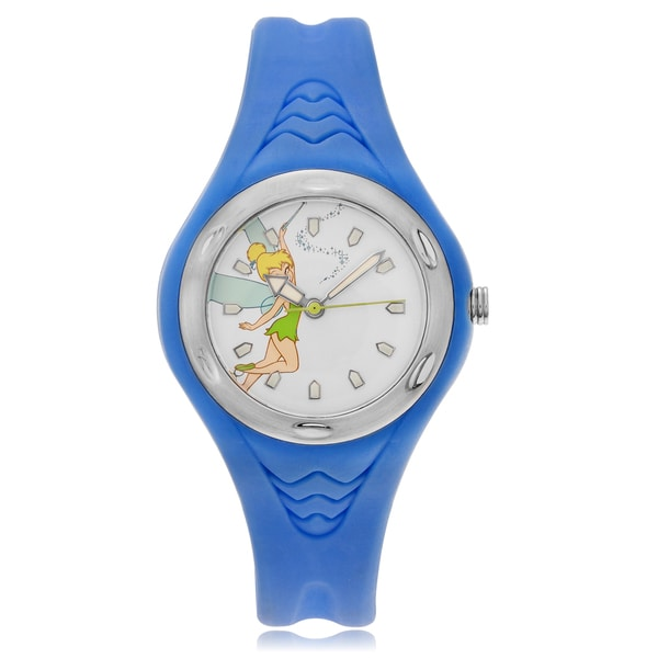 Disney Women's Tinkerbell Dial Blue Strap Watch