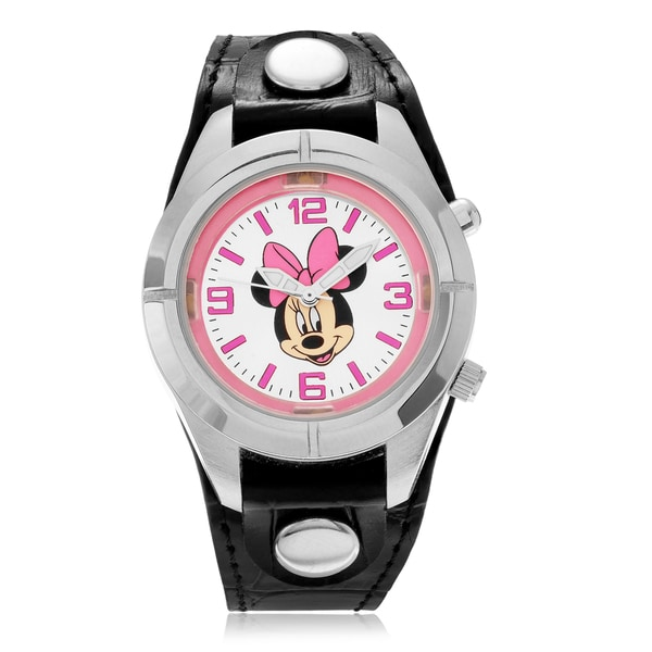Disney Minnie Mouse Analog Light Up Dial Strap Watch