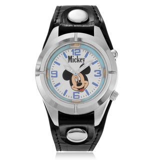 Disney Mickey Mouse Light Up Dial Strap Watch