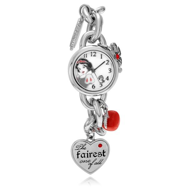 Disney Women's Snow White Charm Bracelet Link Watch