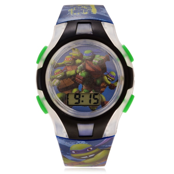 Disney Children's Teenage Mutant Ninja Turtle Flashing Light Case Watch