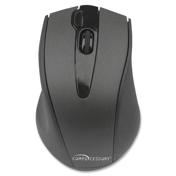 Compucessory Wireless Mouse, 2.4G, Black - 1/EA