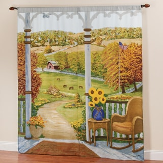 Heartland Window Art Curtain Panel Pair