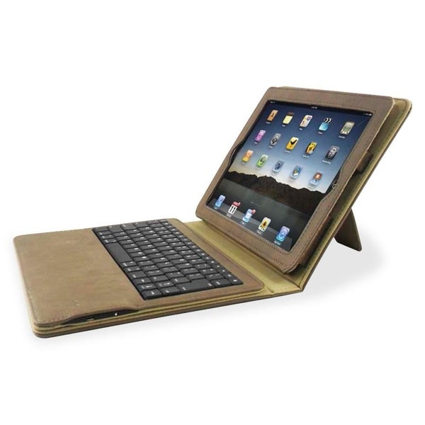 Compucessory Keyboard/Cover Case (Portfolio) for iPad - Tan - 1/EA
