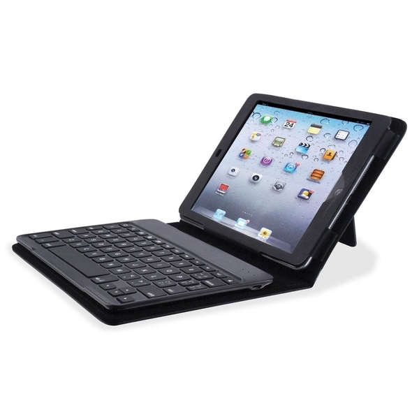 Compucessory Keyboard/Cover Case (Portfolio) for iPad mini - Black - 1/EA