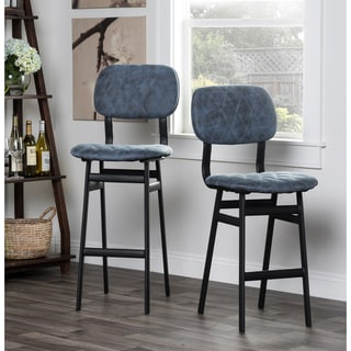 Cambridge Black 30 Inch Counter Swivel Stool With Black