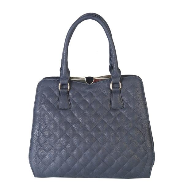 Rimen and Co. Quilted Push Lock Closure Satchel Handbag
