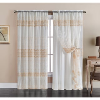 VCNY Josette Embroidered Curtain Panel