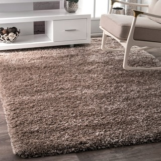 nuLOOM Soft and Plush Solid Thick Shag Taupe Rug (6'6 x 9')