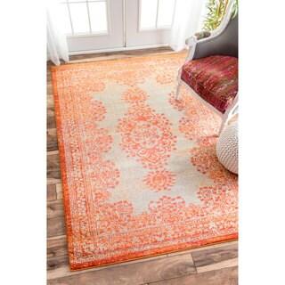nuLOOM Transitional Vintage Abstract Orange Rug (5'3 x 7'7)