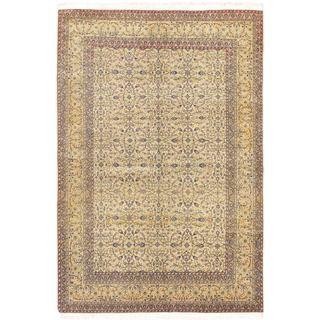 ecarpetgallery Antique Keisari Yellow Wool Rug (4'11 x 7'3)