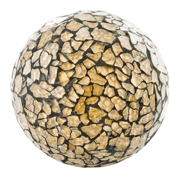 Crepita Gold Glass Sphere