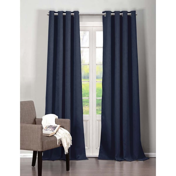 Heavy Triple Layered Blackout Grommet Curtain Panel Pair (As Is Item)