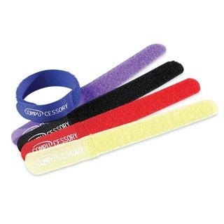 Compucessory Hook and Loop Cable Tie - Pack of 10